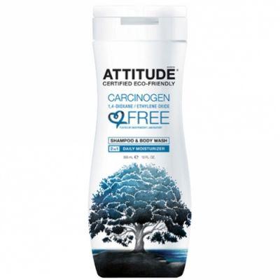 Шампунь и гель для душа 2 в 1 Ежедневное увлажнение Attitude