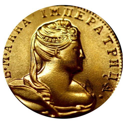 Копия монеты 1 червонец 1738 года.