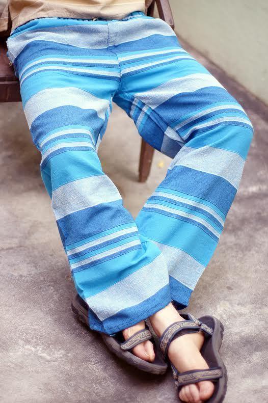 Прямые летние штаны из джута (СПб)