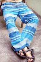 Купить полосатые мужские прямые летние штаны из джута