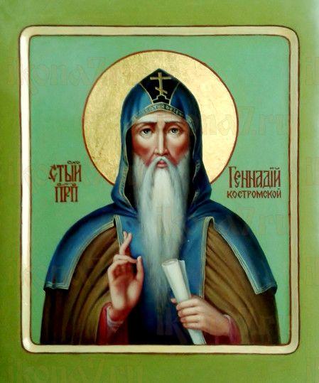 Икона Геннадий Костромской (рукописная)