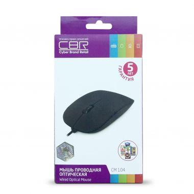 Мышь проводная CBR-CM 104 (Black)