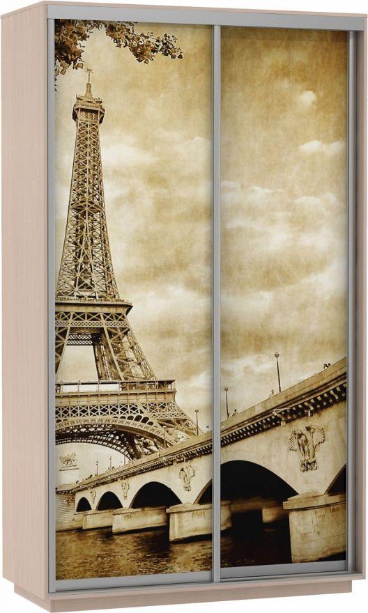 Шкаф-купе Дуо-двухдверный Фото (Париж)   E1 Экспресс