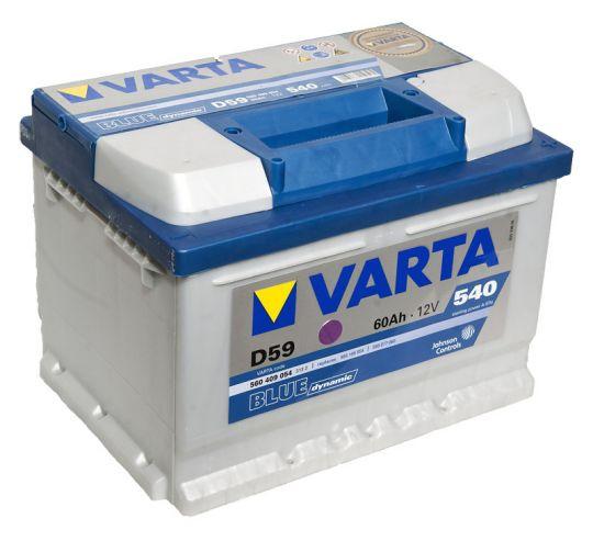 Автомобильный аккумулятор АКБ VARTA (ВАРТА) Blue Dynamic 560 409 054 D59 60Ач ОП