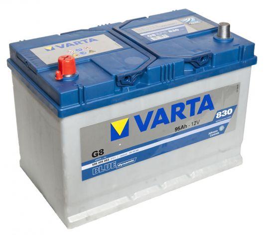 Автомобильный аккумулятор АКБ VARTA (ВАРТА) Blue Dynamic 595 405 083 G8 95Ач