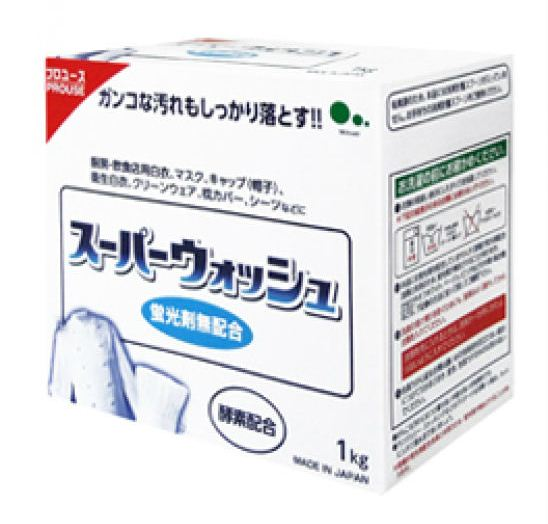 060571 Super Wash Мощный стиральный порошок с ферментами для стирки белого белья 1 кг