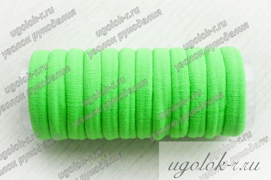 Резинка бесшовная 4 см (зеленая)