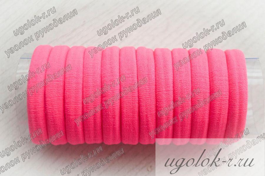 Резинка бесшовная 4 см (ярко-розовая)