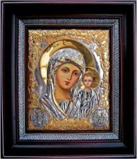 Венчальная пара 1. Казанская икона БМ (26х31), серебро
