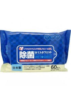 """""""Showa Siko"""" Влажные салфетки для рук и тела с экстрактом зелёного чая 60шт 140мм х 200мм"""