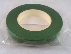 `Флористическая лента (тейп лента), ширина 12 мм, цвет темно-зеленый