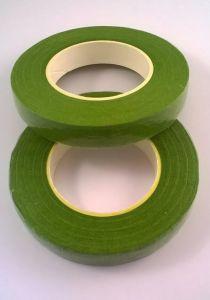 `Флористическая лента (тейп лента), ширина 12 мм, цвет светло-зеленый