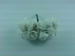 `Цветы из фоамирана, 25 мм, 11-12 цветков, цвет: белый