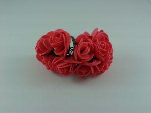 `Цветы из фоамирана, 25 мм, 11-12 цветков, цвет: красный