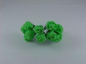 `Цветы из фоамирана, 25 мм, 11-12 цветков, цвет: зеленый