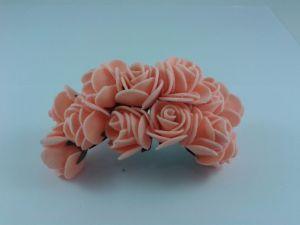 `Цветы из фоамирана, 25 мм, 11-12 цветков, цвет: персиковый