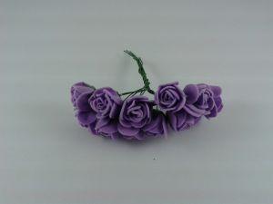 `Цветы из фоамирана, 25 мм, 11-12 цветков, цвет: фиолетовый