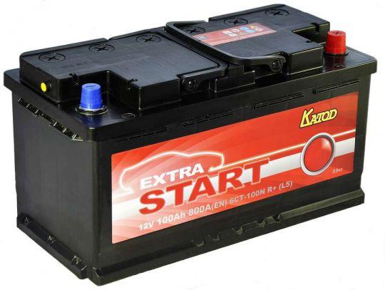 Автомобильный аккумулятор АКБ Extra START (Экстра Старт) 6CT-100 100Ач о.п.