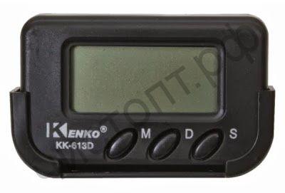 Часы  эл. авто Kenko 613D c будильником