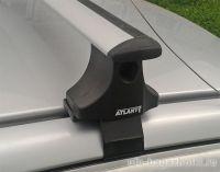 Багажник на крышу Kia Rio, Атлант, крыловидные дуги