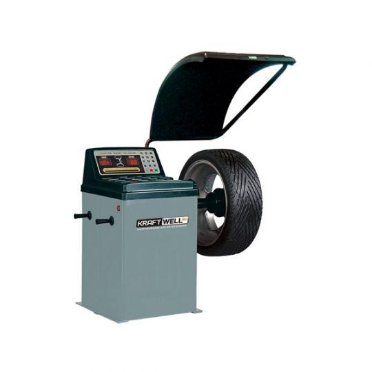 Станок балансировочный, ручной ввод параметров, 0,25 кВт, 220 В, диаметр дисков 10-24', кожух, стандартный набор конусов.