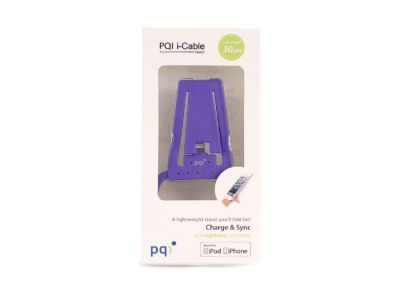 Подставка для зарядки iPhone с USB на Lightning PQI (made for iPhone, iPod) пурпурная