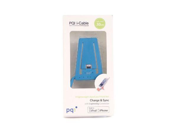 Подставка для зарядки iPhone с USB на Lightning PQI (made for iPhone, iPod) синяя