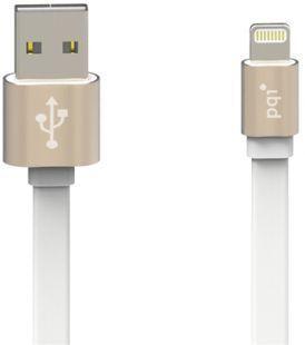 Кабель c Lightning 100см PQI  (made for iPhone,iPad, iPod) на USB двусторонний золотой