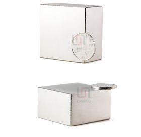 Неодимовый магнит 40х40х20 мм (СПЛАВ N52)