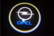 "LED проекция логотипа Opel, ""приветственный свет"", к-кт на 2 двери"