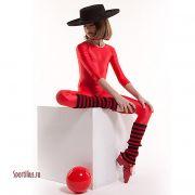 красные лосины для девочки