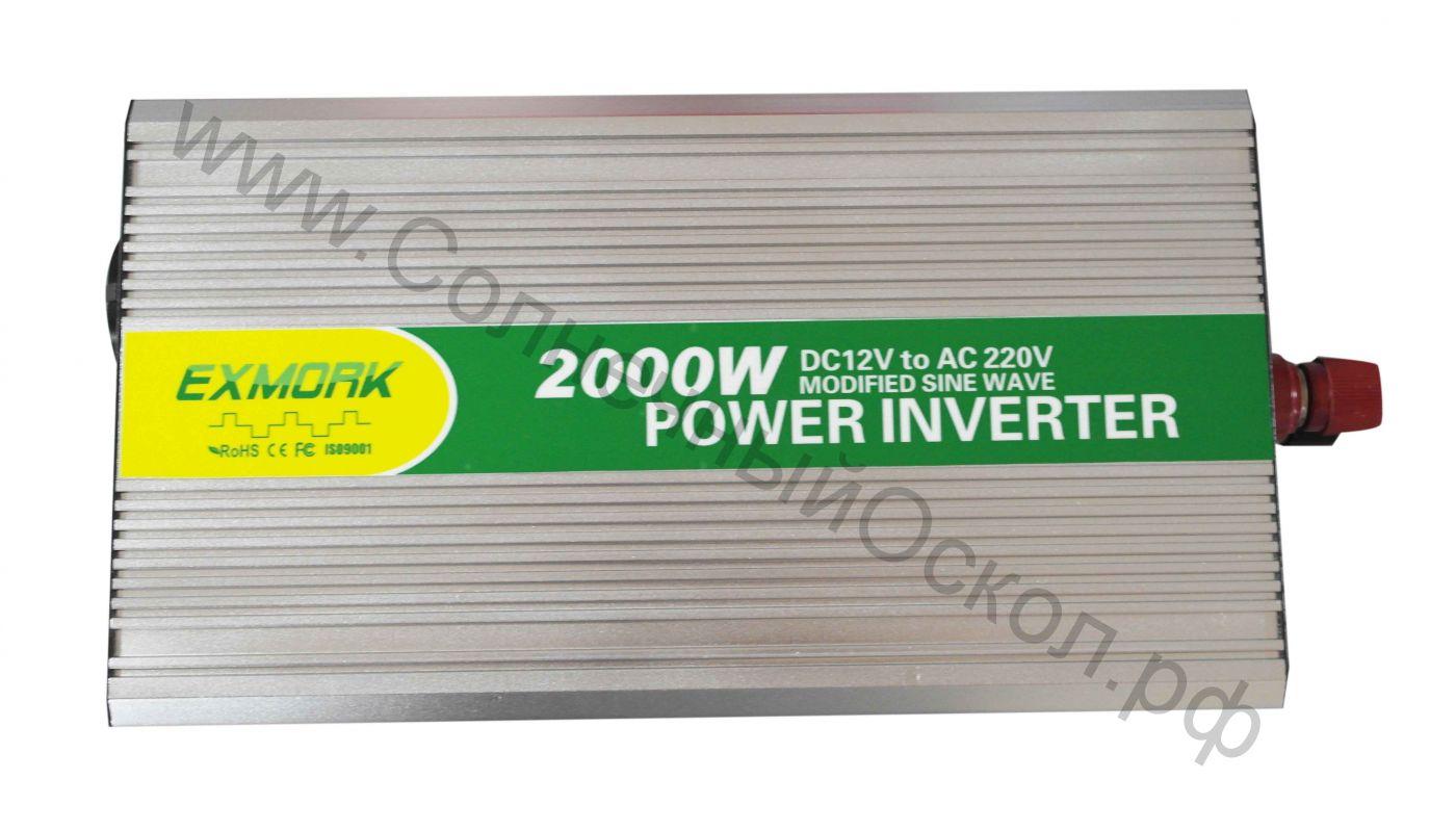 Инвертор модифицированный синус EX2000-24M с USB