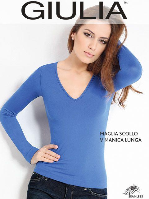 Синяя женская футболка на размер S/M