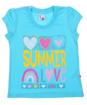 Легкая футболка для девочки Летнее настроение
