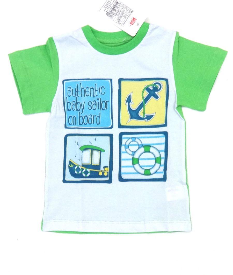 Хлопковая футболка для мальчика Морячок