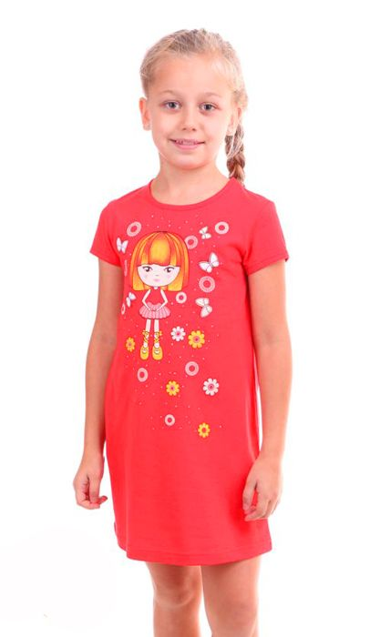 Яркая сорочка для девочки Куколка