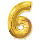 "Фигура ""6""  (40""/102 см) золото"