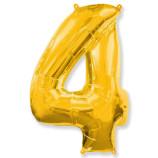 "Фигура ""4""  (40""/102 см) золото"