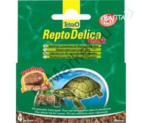 Tetra ReptoDelica Snack корм для водных черепах с дафнией гелевый блок 4х12г