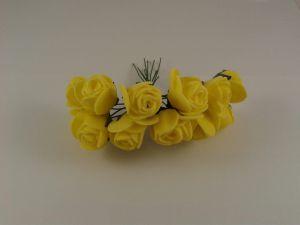 Цветы из фоамирана, 25 мм, 6х12шт, цвет: желтый