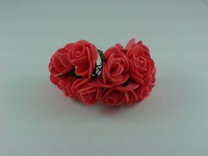 Цветы из фоамирана, 25 мм, 6х12шт, цвет: красный