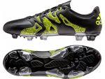 Бутсы adidas X 15.3 FG/AG Leather чёрные