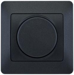 SE Glossa Антрацит Светорегулятор (диммер) поворотный, 300Вт, в сборе