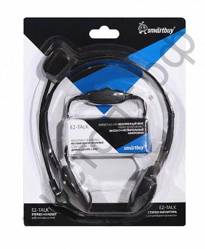 Гарнитура (науш.+микр.) SmartBuy EZ-TALK, рег.громк , кабель 1.8м (SBH-5000)