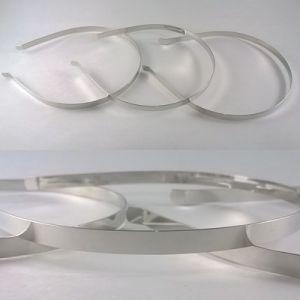 Ободок-основа металл, 7 мм, цвет: серебро. 1уп = 12шт