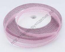 лента металлик 6мм розовая