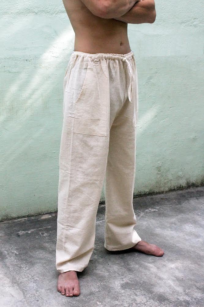Мужские прямые летние штаны из органического хлопка (отправка из Индии)