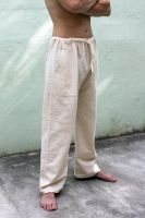 Мужские прямые летние штаны из Индии. Для йоги из органического хлопка. Купить в интернет-магазине