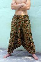 Мужские индийские хлопковые штаны алладины со спиралями (кругами)
