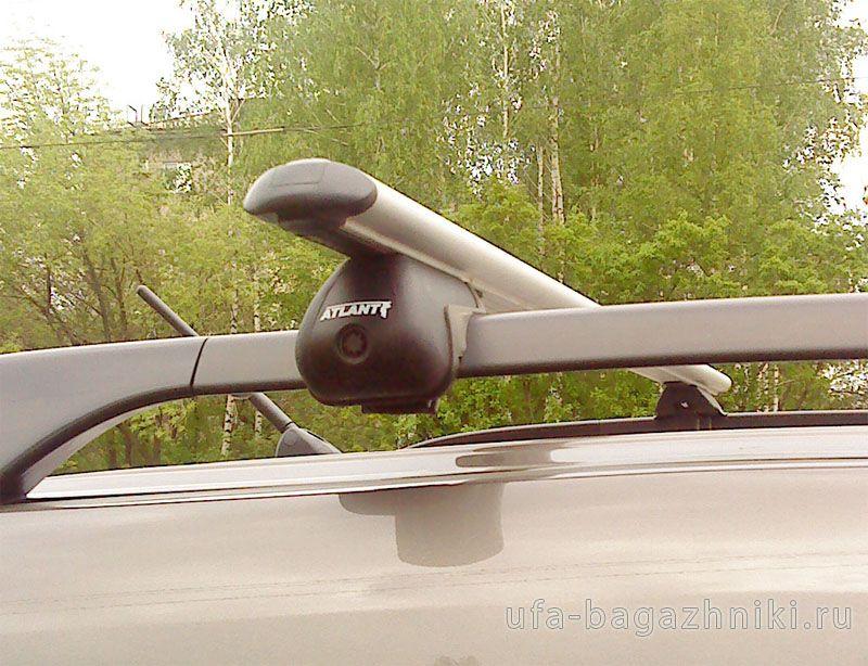 Багажник на крышу Mitsubishi Outlander XL 2007-2013, Атлант, аэродинамические дуги на рейлинги
